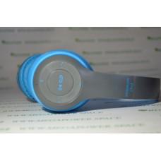 Наушники и гарнитура опт и розница Наушники P47 беспроводные Bluetooth Blue ⏩ megapower.space ▻▻▻