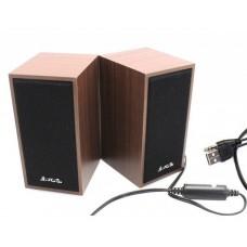 Колонки M09 деревянные, 2x3W, USB