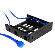"""Адаптер Crown CMU3-B5 USB 3.0 для 5.25"""" отсека фронтальных панелей корпусов"""