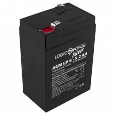 Аккумулятор LogicPower 6В 5.2 Ач (AGM LP 6 - 5.2 AH Silver)