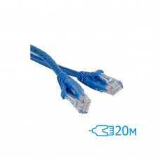 Сетевое оборудование опт и розница Патч-корд UTP CAT5E 20м ⏩ megapower.space ▻▻▻