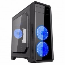 Корпус GameMax G561-F Blue ATX без БП