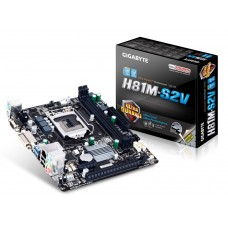 Материнская плата Gigabyte GA-H81M-S2V Intel H81, s1150, mATX