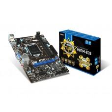 Материнская плата MSI H81M-E33 Intel H81, s1150, mATX