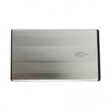 Карманы для дисков опт и розница Карман Maiwo K2501A-U2S silver внешний 2.5'' HDD, SATA, 1xUSB 2.0 ⏩ megapower.space ▻▻▻