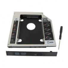 """Карманы для дисков опт и розница Карман Maiwo NSTOR-12 для подключ. 2,5"""" HDD в отсек привода ноутбука толщ.12,7 мм, алюм. ⏩ megapower.space ▻▻▻"""