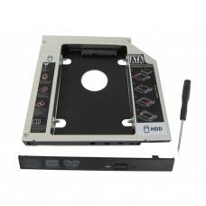 """Карманы для дисков опт и розница Карман Maiwo NSTOR-9 для подключ. 2,5"""" HDD в отсек привода ноутбука толщ.9,5 мм, алюм. ⏩ megapower.space ▻▻▻"""