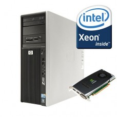 Системный блок HP Z400 Workstation (Xeon W3565/4GB/320GB/QuadroFX1800/Win7Pro) Б/У