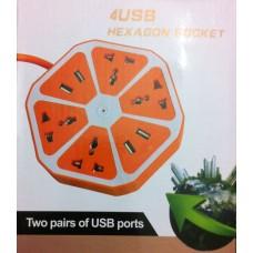 Купить новый сетевой фильтр USB зарядка, 4+4 220v
