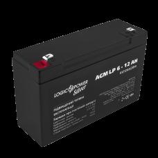 Аккумулятор LogicPower 6В 12 Ач (AGM LP 6 - 12 AH SILVER)