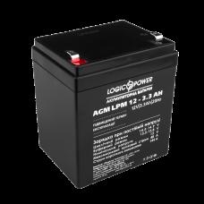 Аккумулятор LogicPower 12В 3.3 Ач (AGM LPM 12 - 2.3 AH)