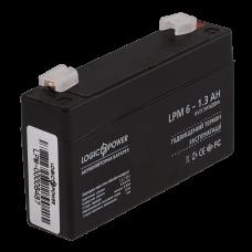 Аккумулятор LogicPower 6В 1.3 Ач (AGM LPM 6 - 1.3 AH)