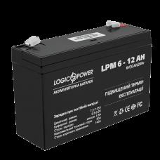 Аккумулятор LogicPower 6В 12 Ач (AGM LPM 6 -1 2 AH)