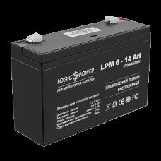 Аккумуляторные батареи опт и розница Аккумулятор LogicPower 6В 14 Ач (AGM LPM 6 - 14 AH) ⏩ megapower.space ▻▻▻