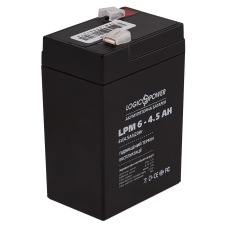 Аккумулятор LogicPower 6В 4.5 Ач (AGM LPM 6 - 4.5 AH)