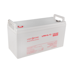 Аккумуляторные батареи опт и розница Аккумулятор гелевый LogicPower 12В 120 Ач (LPM-GL 12 - 120 AH) ⏩ megapower.space ▻▻▻