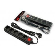 Сетевой фильтр FrimeCom FC-B2005W чёрный, 1.8 м, 5 розеток