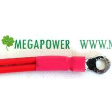 Провод медный 22мм2  20см, для соединения аккумуляторных батарей, с клеммами