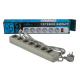 Сетевой фильтр LogicPower LP-X6, 3m, 6 розеток, серый