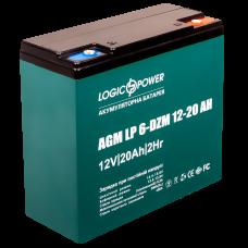Аккумулятор тяговый свинцово-кислотный LogicPower 12В 20 Ач (LP 6-DZM-20)
