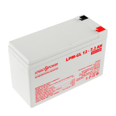 Аккумулятор гелевый LogicPower 12В 7,2 Ач (LPM-GL 12 - 7,2 AH)