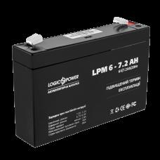 Аккумулятор LogicPower 6В 7.2 Ач (LPM 6 - 7.2 AH)