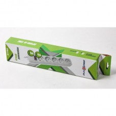 Сетевой фильтр серый, 3 м кабель, 5 розеток Maxxtro SPM5-G-10G