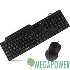 Комплект Crown CMMK-520В клавиатура+мышка, USB