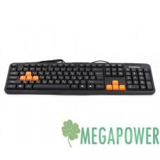 Клавиатуры опт и розница Клавиатура FrimeCom FC-838-USB Black+Orange ⏩ megapower.space ▻▻▻