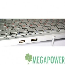 Клавиатуры опт и розница Клавиатура Golden Field K111S White USB + HUB USB ⏩ megapower.space ▻▻▻