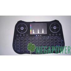 Клавиатура мини беспроводная с тач-падом и подсветкой