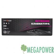 Клавиатуры опт и розница Клавиатура LogicPower LP-KB 000 чёрная, USB ⏩ megapower.space ▻▻▻
