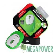 Мышка Crown CMM-931W Green wireless