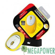 Мышка Crown CMM-931W Yellow wireless
