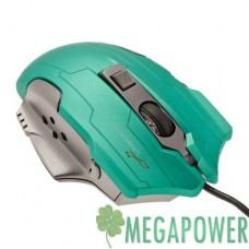 Мышка LogicFox LF-GM 047 зёлено-серая, USB