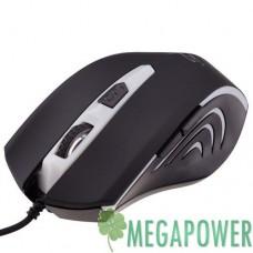 Мышка LogicFox LF-GM 053 чёрно-серебристая, USB