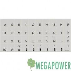 Наклейка на клавиатуру прозрачная, чёрная