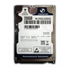 Винчестер 250GB Mediamax (Western Digital) WL250GLSA854G, 5400rpm, 8Mb, 2.5""