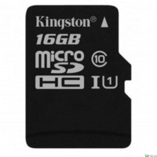 16GB microSDHC class 10 Kingston SDCS/16GBSP без адаптера