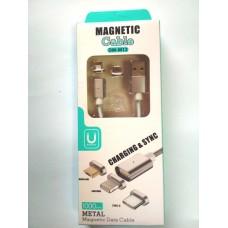 Кабель MAGNETIC 2in1 micro USB/Iphone 5, 2.0/AM с магнитным контактом