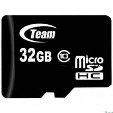 32GB microSDHC class 10 Team TUSDH32GCL1002 (без адаптера)