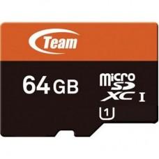 Носители информации опт и розница 64GB microSDHC class 10 Team TUSDX64GUHS03 (c SD адаптером) ⏩ megapower.space ▻▻▻