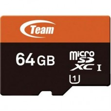 64GB microSDHC class 10 Team TUSDX64GUHS03 (c SD адаптером)