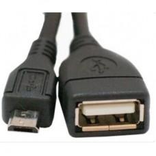 Кабель USB AF - micro USB OTG 0.8м