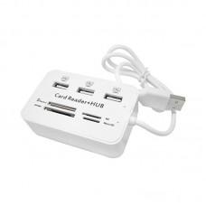 Концентратор USB 3.0 HUB + картридер  MS SD M2 TF 3xUSB