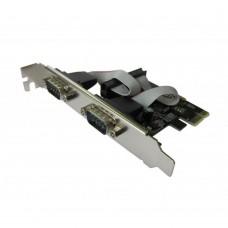 Контроллер Dynamode RS232 (COM) 2 канала чипсет WCH 382 PCI-E