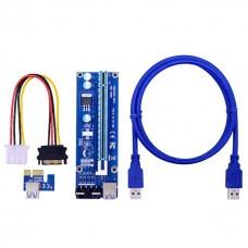 Адаптер Riser Card VER006S PCI-E extender 60см USB 3.0