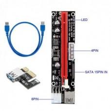 Адаптер Riser Card VER103D PCI-E extender 60см USB 3.0