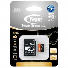 16GB microSDHC UHS-I class 10 Team (TUSDH16GUHS03) с SD адаптером