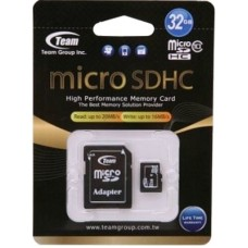 32GB microSDHC class 10 Team TUSDH32GCL1003 (c SD адаптером)